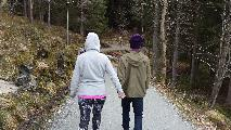 Image: My brother Håvard and his girlfriend walking hand in hand.