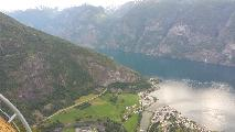 Image: The town Aurland below.