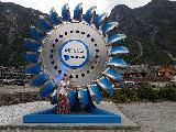 Image: We stopped in Eidfjord because Helen insisted on finding the world's largest pelton turbine wheel.
