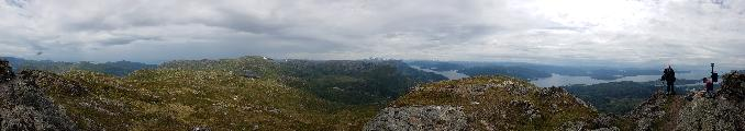 Image: I decided to make a panorama from the top, starting and ending at the cairn.