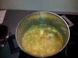 Image: Traditional Norwegian pea soup made from yellow peas.