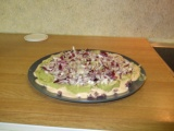 Image: 7-layer dip: 4th layer: Red onion.